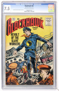 Silver Age (1956-1969):Adventure, Blackhawk #97 (Quality, 1956) CGC VF- 7.5 Off-white to white pages....