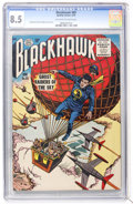 Golden Age (1938-1955):Superhero, Blackhawk #89 (Quality, 1955) CGC VF+ 8.5 Off-white to white pages....