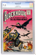 Golden Age (1938-1955):Science Fiction, Blackhawk #100 (Quality, 1956) CGC FN/VF 7.0 Off-white pages....