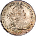 Early Dimes, 1807 10C Planchet Clip MS66 PCGS. CAC....