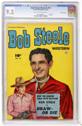 Golden Age (1938-1955):Western, Bob Steele Western #10 Crowley Copy pedigree (Fawcett, 1952) CGC NM- 9.2 Cream to off-white pages....