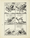 Original Comic Art:Panel Pages, Robert Crumb Big Ass Comics #1 Eggs Ackley Page 4 OriginalArt (Rip Off Press, 1969)....