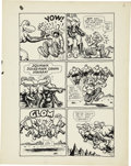 Original Comic Art:Panel Pages, Robert Crumb Big Ass Comics #1 Eggs Ackley Page 6 OriginalArt (Rip Off Press, 1969)....