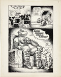 Original Comic Art:Splash Pages, Robert Crumb Big Ass Comics #1 Eggs Ackley Splash Page 7Original Art (Rip Off Press, 1969)....