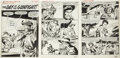 """Original Comic Art:Complete Story, Gene Colan Kid Colt Outlaw #114 Complete 5-page Story """"TheDay of the Gunfight"""" Original Art (Marvel, 1964)...."""
