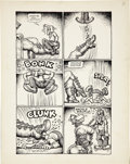 Original Comic Art:Panel Pages, Robert Crumb Big Ass Comics #1 Eggs Ackley Page 8 OriginalArt (Rip Off Press, 1969)....