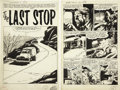"Original Comic Art:Complete Story, Gene Colan World of Fantasy #10 Complete 4-page Story ""TheLast Stop"" Original Art (Atlas, 1957)...."