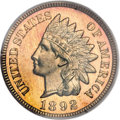 Proof Indian Cents, 1892 1C PR67 Red PCGS....
