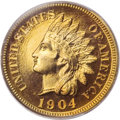 Proof Indian Cents, 1904 1C PR67 Red PCGS....