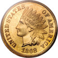 Proof Indian Cents, 1868 1C PR66 Red PCGS....