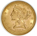 1882 $5 MS62 NGC. NGC Census: (1891/1406). PCGS Population (971/614). Mintage: 2,514,568. Numismedia Wsl. Price for NGC/...