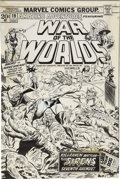 "Original Comic Art:Covers, Herb Trimpe and Mike Esposito Amazing Adventures #19 Second""War of the Worlds"" Cover Original Art (Marvel, 1973)...."