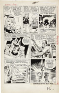 Original Comic Art:Panel Pages, Jack Kirby and Paul Reinman X-Men #1 Magneto's Very FirstAppearance, page 11 Original Art (Marvel, 1963).. ...