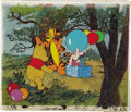 Animation Art:Production Cel, Winnie-the-Pooh Animation Production Cel Set-Up withBackground Original Art (Disney, undated)....