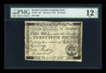 Colonial Notes:South Carolina, South Carolina March 6, 1776 L25 PMG Fine 12 Net....