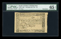 Colonial Notes:South Carolina, South Carolina December 23, 1776 $2 PMG Gem Uncirculated 65 EPQ....