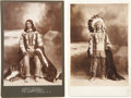 Military & Patriotic:Indian Wars, Two Cabinet Card Photographs of Sioux Indian Chief, circa 1880s.... (Total: 2 Items)