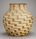 American Indian Art:Baskets, A PAPAGO COILED STORAGE JAR. c. 1900. ...