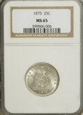 Seated Quarters, 1875 25C MS65 NGC....