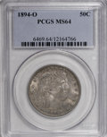 Barber Half Dollars, 1894-O 50C MS64 PCGS....