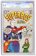 Silver Age (1956-1969):Superhero, Superboy #64 (DC, 1958) CGC VF 8.0 Off-white pages....