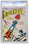 Silver Age (1956-1969):Adventure, Blackhawk #123 (DC, 1958) CGC VF/NM 9.0 Off-white to white pages....