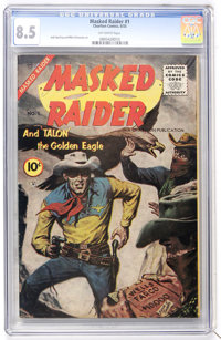 Masked Raider #1 (Charlton, 1955) CGC VF+ 8.5 Off-white pages