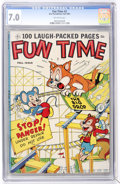 Golden Age (1938-1955):Funny Animal, Fun Time #3 (Ace, 1953) CGC FN/VF 7.0 Off-white pages....
