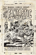Original Comic Art:Covers, John Buscema and Joe Sinnott Fantastic Four #127 CoverOriginal Art (Marvel, 1972)....