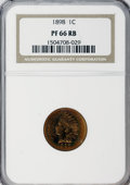 Proof Indian Cents: , 1898 1C PR66 Red and Brown NGC. NGC Census: (24/3). PCGS Population (12/2). Mintage: 1,795. Numismedia Wsl. Price for NGC/P...