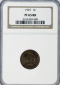 Proof Indian Cents: , 1901 1C PR65 Red and Brown NGC. NGC Census: (57/30). PCGS Population (67/30). Mintage: 1,985. Numismedia Wsl. Price for NGC...