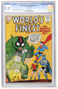 World's Finest Comics #112 (DC, 1960) CGC NM- 9.2 White pages
