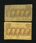 Fractional Currency:First Issue, Fr. 1281 25c First Issue. Two Examples. Good-Very Good or Better.... (Total: 2 notes)