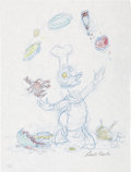 Original Comic Art:Sketches, Carl Barks - Donald Duck Sketch Original Art (undated)....