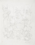 Original Comic Art:Sketches, Carl Barks - King Midas Having Fun, Preliminary Sketch for PaintingOriginal Art (1976).... (Total: 2 Items)