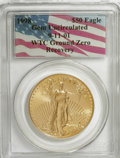 Modern Bullion Coins, 1998 G$50 One-Ounce Gold Eagle Gem Uncirculated PCGS. 9-11-01 WTCGround Zero Recovery. PCGS Population (1626/73). NGC Cens...