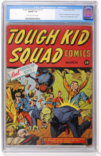 Tough Kid Squad Comics #1 (Timely, 1942) CGC FN/VF 7.0 Light tan to cream pages