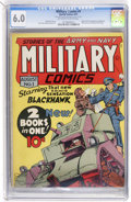 Golden Age (1938-1955):War, Military Comics #1 (Quality, 1941) CGC FN 6.0 Off-white to white pages....