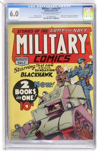 Military Comics #1 (Quality, 1941) CGC FN 6.0 Off-white to white pages