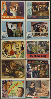 """Man With 100 Faces Lot (Gaumont, 1938). Lobby Cards (23) (11"""" X 14""""). Crime.... (Total: 23 Items)"""