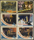 "Movie Posters:War, Flying Fortress Lot (Warner Brothers, 1942). Lobby Cards (5) andTitle Lobby Card (11"" X 14""). War.... (Total: 6 Items)"
