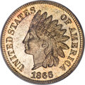 Proof Indian Cents, 1866 1C PR66 Red PCGS....