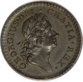 Colonials, 1723 1/2P Rosa Americana Halfpenny, Crown MS64 Brown PCGS....