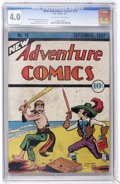 Platinum Age (1897-1937):Miscellaneous, New Adventure Comics #19 (DC, 1937) CGC VG 4.0 Tan to off-whitepages....