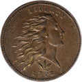 Large Cents, 1793 1C Wreath Cent, Vine and Bars MS64 Brown PCGS....