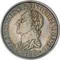 Colonials, 1783 1C Silver Restrike Washington & Independence Cent, Draped Bust, Engrailed Edge PR62 Cameo PCGS....