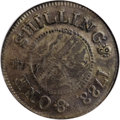Colonials, 1783 SHLNG Chalmers Shilling, Short Worm XF45 NGC....
