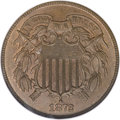 Two Cent Pieces, 1872 2C MS65 Brown NGC....