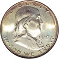 Franklin Half Dollars, 1949 50C MS67 Full Bell Lines NGC. CAC....