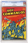 Golden Age (1938-1955):War, Boy Commandos #1 (DC, 1942) CGC FN- 5.5 White pages....